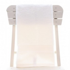 Single Egyptian Cotton White Bath Towel